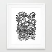 rooster Framed Art Prints featuring Rooster by Sheila Rayyan