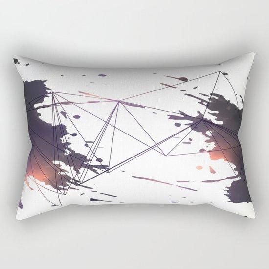 Geometric splatter Rectangular Pillow