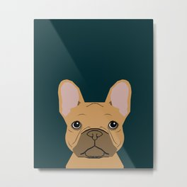 Willow - French Bulldog phone case art design for dog lovers and dog people Metal Print