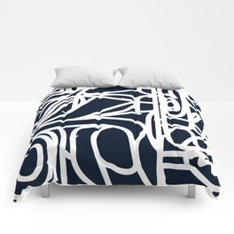 Stained Glass Pattern Black and White Comforters