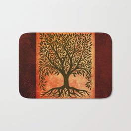 Tree Of Life Warm Tones Bath Mat