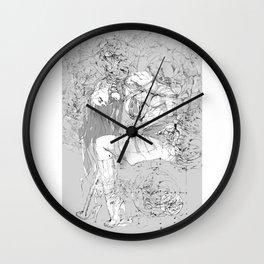 Lady in Peonies Wall Clock