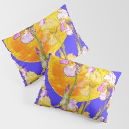 IRIS GARDEN & RISING GOLD MOON  DESIGN ART Pillow Sham