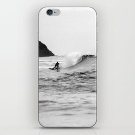 Black and White Surfer Print iPhone Skin