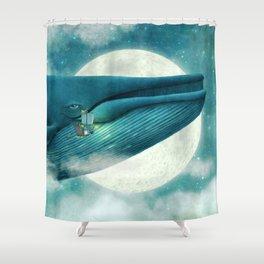 Finn and the Whale Shower Curtain