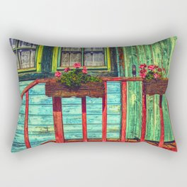 friendly colorful Rectangular Pillow