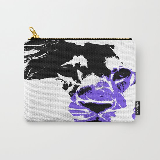 Africa Lion : Purple Carry-All Pouch