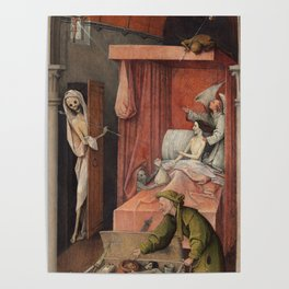 Hieronymus Bosch - Death And The Miser. Poster