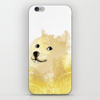 doge iPhone & iPod Skins featuring Doge by EtOfficina