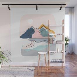 Minimalistic Landscape Wall Mural
