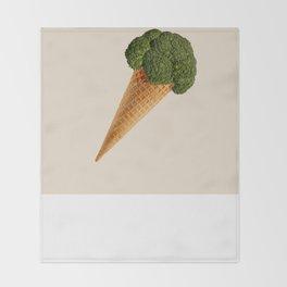 broccoli ice cream Throw Blanket