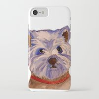 westie iPhone & iPod Cases featuring West highland terrier Westie dog love by Gooberella