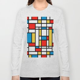 Tribute to Mondrian No2 Long Sleeve T-shirt