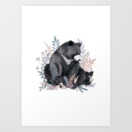 Snuggle Bears Art Print