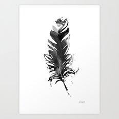 Black Feather (You tickle my fancy II) Art Print