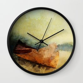 BIRCH BARK CANOE AT REST Wall Clock