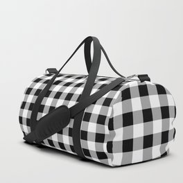 Black and White Check Duffle Bag