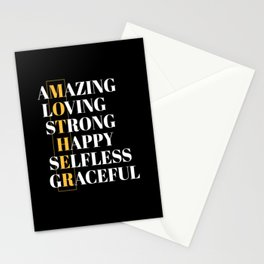 Mother Amazing Loving Mothers day Stationery Cards