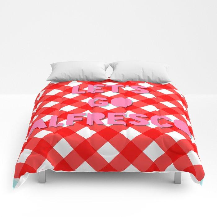Let's Go Alfresco Comforters