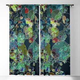 Just circles on the dark: abstract art fashionable modern colors Blackout Curtain