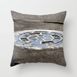 Storm Drain After The Rain Throw Pillow