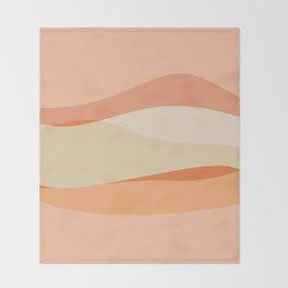 Peachy Waves Throw Blanket
