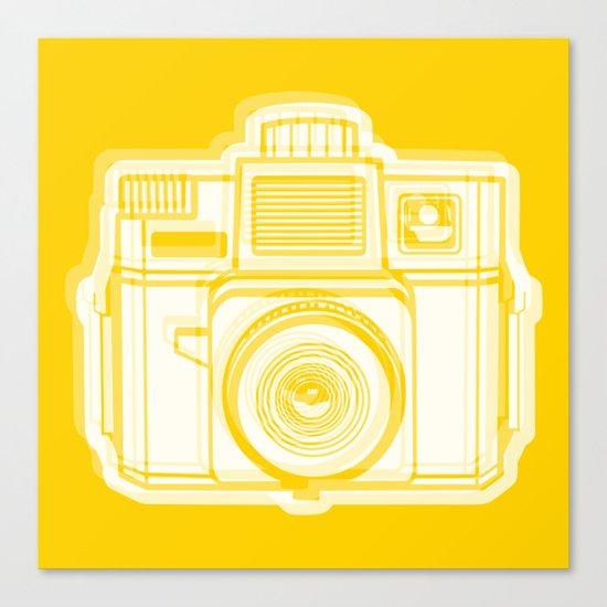 I Still Shoot Film Holga Logo - Reversed Yellow Canvas Print