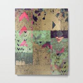 Triangle art, geometric art, contemporary art print, modern art print, colorful wall art, midcentury Metal Print