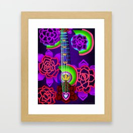 Fusion Keyblade Guitar #168 - Overdrive & Divine Rose Framed Art Print