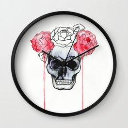 Skull and Roses Wall Clock