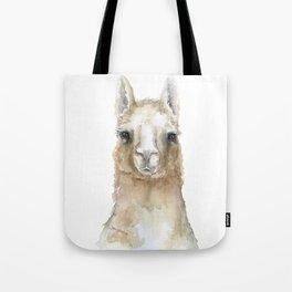 Llama Watercolor Painting Tote Bag