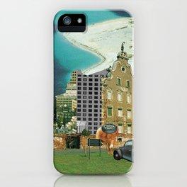 city unreal · hinaus aufs land iPhone Case