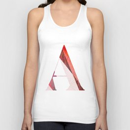 """Typographic poster """"A"""" Unisex Tank Top"""