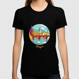 Prague and swans T-shirt