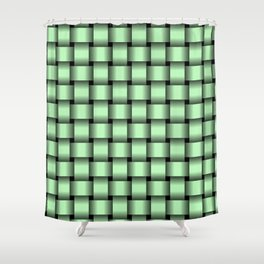 Small Light Green Weave Shower Curtain