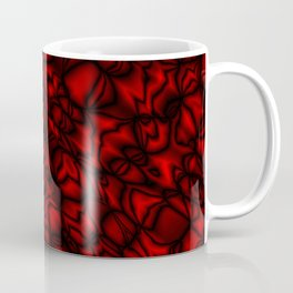 Chaotic red soap bubbles with a pattern of mirrored dark borders.  Coffee Mug