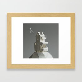Camper with kite Framed Art Print
