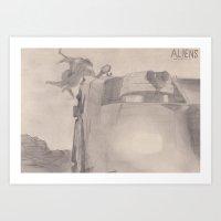 ALIENS drop ship and APC Art Print