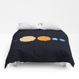 Planets To Scale (Horizontal) Comforters
