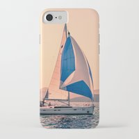 racing iPhone & iPod Cases featuring  Yacht racing by Svetlana Korneliuk