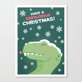 Cretaceous Christmas Canvas Print