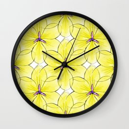 Flower Sketch 3 Wall Clock