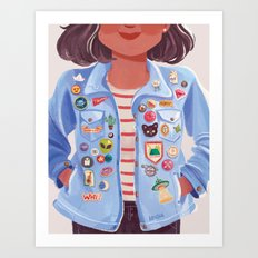 Patches and Pins Art Print