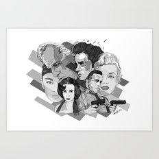Legandary Six Art Print
