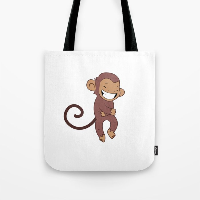 Laughing monkey Tote Bag