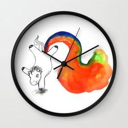 Rainbow Farting Unicorn College Dorm Decor Wall Clock