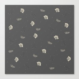Virgo Pattern Canvas Print