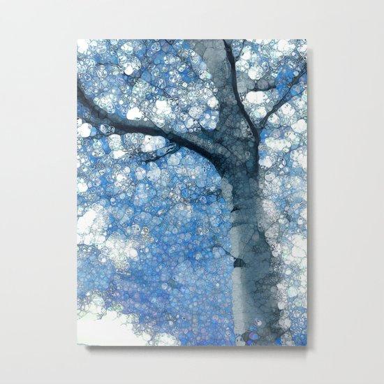 Magic Blue Tree Metal Print