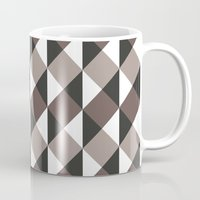 gray pattern Mugs featuring Pattern Gray by Sonia Marazia