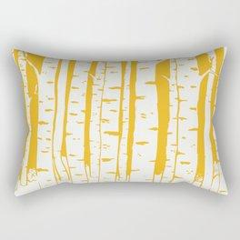 Birch forest in yellow Rectangular Pillow